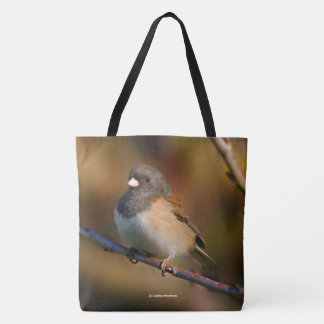 Dark-Eyed Junco on a Limb Tote Bag