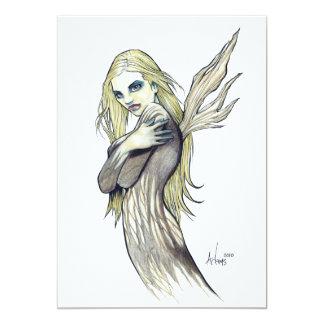 "Dark Fairy 5"" X 7"" Invitation Card"