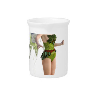 Dark Fairy Flying in Place Beverage Pitcher