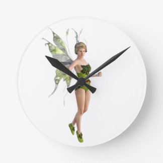 Dark Fairy Flying in Place Clocks