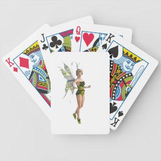 Dark Fairy Flying in Place Poker Deck