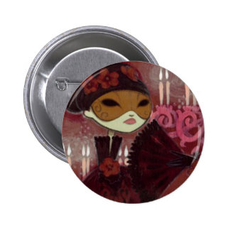 Dark Fairy Tale Character 10 - Masked Lady Pinback Buttons