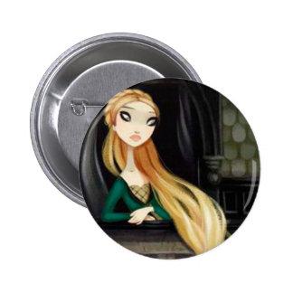 Dark Fairy Tale Character 2 - Rapunzel 2 Inch Round Button