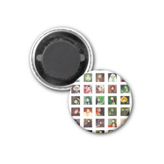 DARK FAIRY TALE CHARACTER COLLAGE 1 INCH ROUND MAGNET