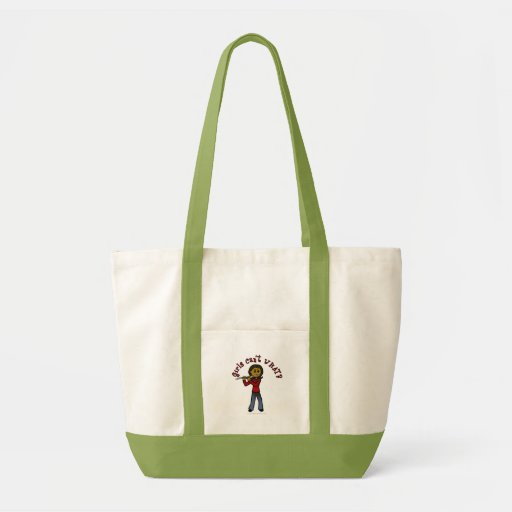 Dark Female Flute Player Canvas Bags