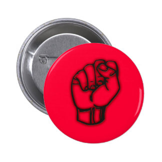 dark fist protest button