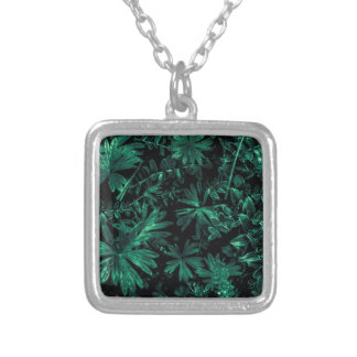 Dark Flora Photo Silver Plated Necklace
