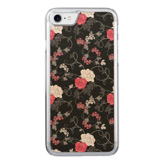 Dark Floral Carved iPhone 8/7 Case