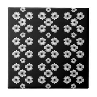Dark Floral Ceramic Tiles