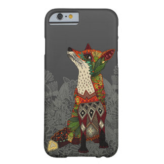 dark floral fox barely there iPhone 6 case