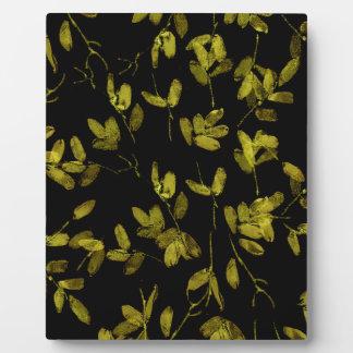 Dark Floral Print Plaque
