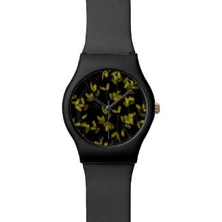 Dark Floral Print Watch