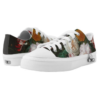Dark Floral Still Life Low Top Sneakers