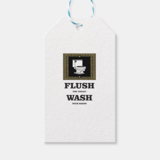 dark flush wash sign pack of gift tags