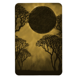 Dark Forest Eclipse Premium Magnet, Gold Magnet