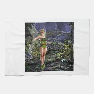 Dark Forest Fairy Kitchen Towel