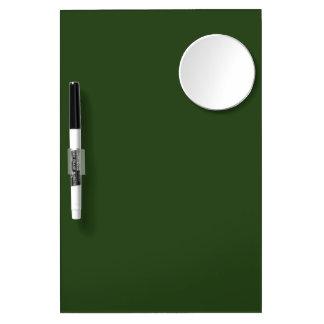 Dark Forest Green Dry-Erase Board with Mirror