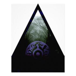 Dark forest letterhead