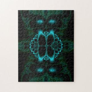 Dark Forest Lotus Fractal Jigsaw Puzzle