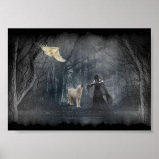 Dark Forest Path Poster