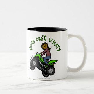 Dark Four Wheeler Two-Tone Coffee Mug