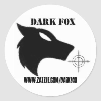 DARK FOX crosshair Classic Round Sticker