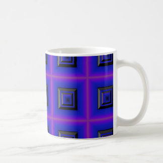 Dark Framed Classic White Coffee Mug