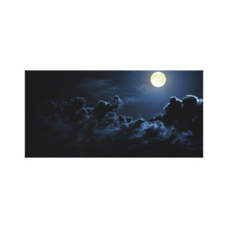 Dark Full Moon canvas