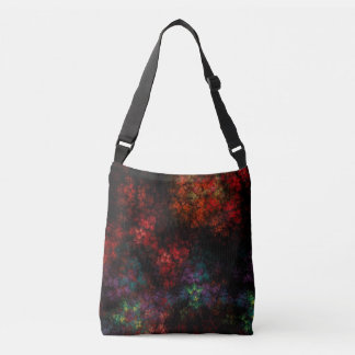 Dark Garden Fractal Crossbody Bag