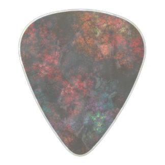 Dark Garden Fractal Pearl Celluloid Guitar Pick
