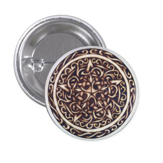 Dark Garden Pentacle Button Pin