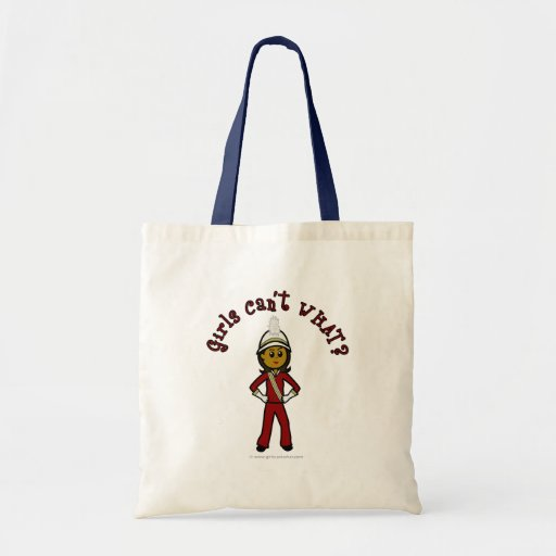 Dark Girl in Red Marching Band Uniform Bags