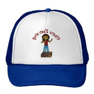 Dark Girl on Soapbox Trucker Hat