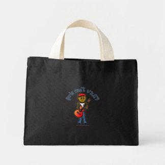 Dark Girl Playing Guitar Tote Bag