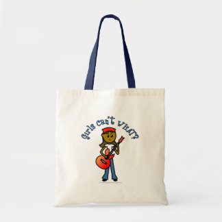 Dark Girl Playing Guitar Tote Bags