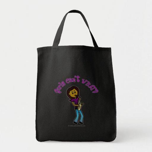 Dark Girl Playing Saxophone Bag