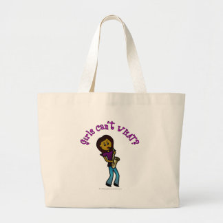 Dark Girl Playing Saxophone Canvas Bags