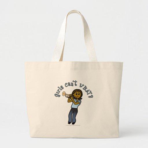 Dark Girl Playing Trumpet Bags