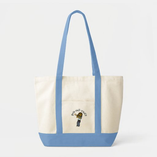 Dark Girl Playing Trumpet Tote Bags