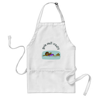 Dark Girl Swimming Standard Apron