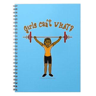 Dark Girl Weightlifting Notebook