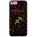 Dark Glitter Zodiac Sagittarius iPhone 6 Plus Case