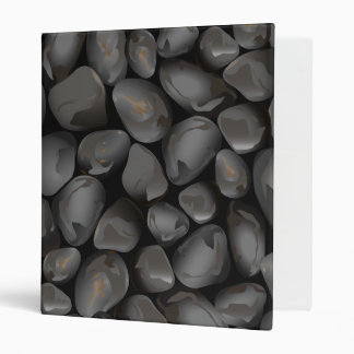 Dark glossy pebbles binder
