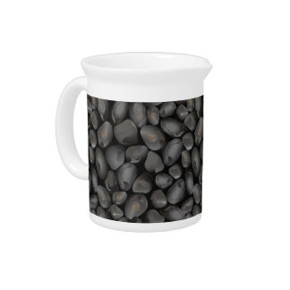 Dark glossy pebbles pitcher