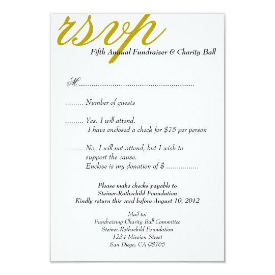 dark gold gala formal event elegant rsvp response invitation zazzle ca