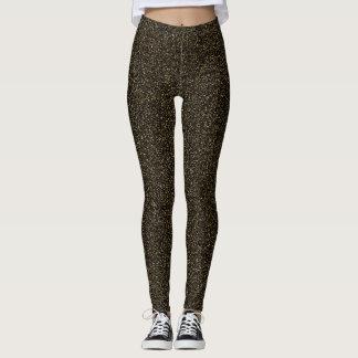 Dark gold glitter effect leggings