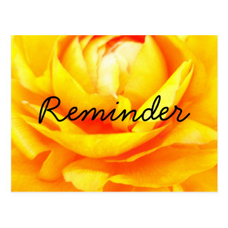 Dark Gold Reminder Postcard