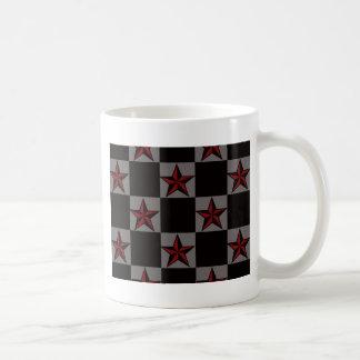 Dark Goth Star Pattern Coffee Mug
