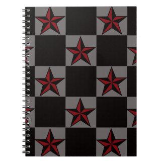 Dark Goth Star Pattern Notebook