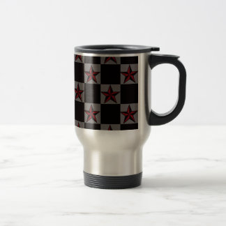 Dark Goth Star Pattern Travel Mug